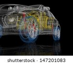 high detailed 3d car model.... | Shutterstock . vector #147201083