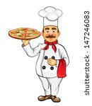 chef pizza | Shutterstock .eps vector #147246083