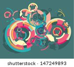 vector colorful broken circle...