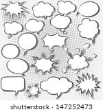 vector illustration of comic... | Shutterstock .eps vector #147252473