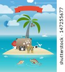 summer seaside vacation... | Shutterstock .eps vector #147255677