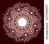 ornamental round lace pattern... | Shutterstock .eps vector #147256997