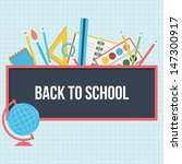 back to school background  ... | Shutterstock .eps vector #147300917