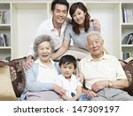 portrait of a three generation... | Shutterstock . vector #147309197