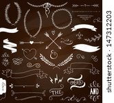 wedding graphic set  arrows ... | Shutterstock .eps vector #147312203