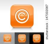 copyright icon. orange color...