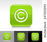 copyright icon. green color...