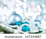 xmas decorations on abstract... | Shutterstock . vector #147354887