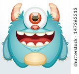 Smiling Monster - stock vector