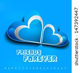 beutiful illustration friends... | Shutterstock .eps vector #147392447