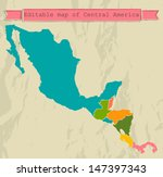 editable central america map... | Shutterstock .eps vector #147397343