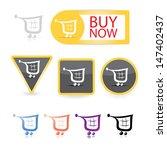 vector color shopping cart... | Shutterstock .eps vector #147402437