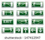 isolated warning  exit ... | Shutterstock .eps vector #147412547