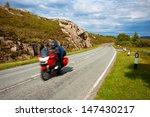 motorbike speeding on country... | Shutterstock . vector #147430217
