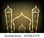 shiny mosque design on abstract ... | Shutterstock .eps vector #147461273
