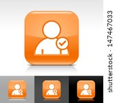 user icon set. orange color...