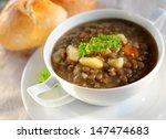 lentil soup | Shutterstock . vector #147474683