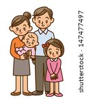 family  home  two generation | Shutterstock . vector #147477497