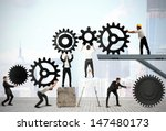 teamwork works together to... | Shutterstock . vector #147480173