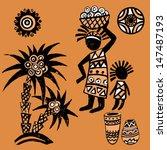set of african elements...   Shutterstock .eps vector #147487193