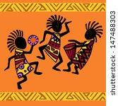 dancing aborigines.papuan...   Shutterstock .eps vector #147488303