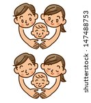 family  love  baby | Shutterstock . vector #147488753