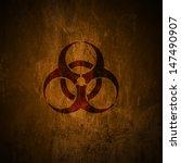 grunge biohazard symbol.   | Shutterstock . vector #147490907
