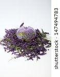 lavender and candle  isolated... | Shutterstock . vector #147494783