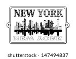 a illustration of new york label | Shutterstock .eps vector #147494837