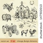 agriculture,alcohol,animal,background,barrel,bio,collection,country,countryside,design,drawing,drawn,eco,element,environment