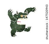 retro cartoon roaring monster | Shutterstock .eps vector #147520943