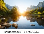 Stock photo yosemite valley sunrise 147530663