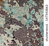 Old Granite With Lichens And...