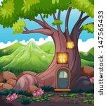 Illustration Of A Tree House I...
