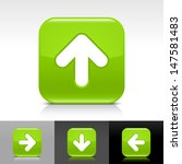 arrow upload icon. green color...