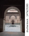 Small photo of MARRAKECH - MARCH 04: The Ben Youssef Madrasa was an Islamic college in Marrakech, Morocco, named after the Almoravid sultan Ali ibn Yusuf (1106-1142 ). March, 04, 2013 in Marrakech, Morocco.