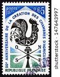 france   circa 1973  a stamp...   Shutterstock . vector #147643997