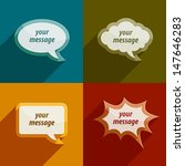 color speech bubble clouds kit... | Shutterstock .eps vector #147646283