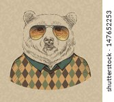 vector illustration of bear... | Shutterstock .eps vector #147652253