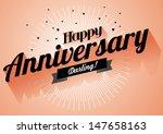 happy anniversary greeting... | Shutterstock .eps vector #147658163
