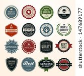 set of retro vintage badges and ... | Shutterstock .eps vector #147689177