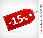 Red leather price vector labels fifth ten percent sale off. isolated from background. layered.