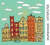 illustration of amsterdam | Shutterstock .eps vector #147691703
