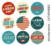 a set of nine labor day retro... | Shutterstock .eps vector #147694883