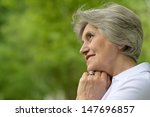 portrait of a senior woman on a ... | Shutterstock . vector #147696857