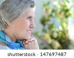 portrait of an older woman with ... | Shutterstock . vector #147697487