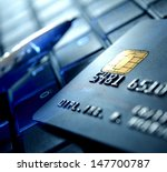 credit card and ball pen on a...   Shutterstock . vector #147700787