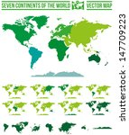 continents world map vector.... | Shutterstock .eps vector #147709223