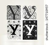 vector ornamental letter y sign ... | Shutterstock .eps vector #147710957