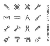 Simple icons related to tools.